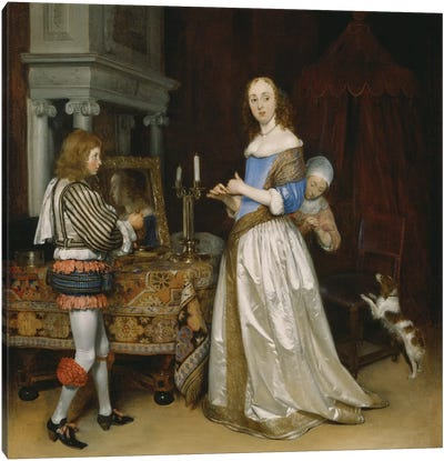Lady at her Toilette, c.1660  Canvas Art Print