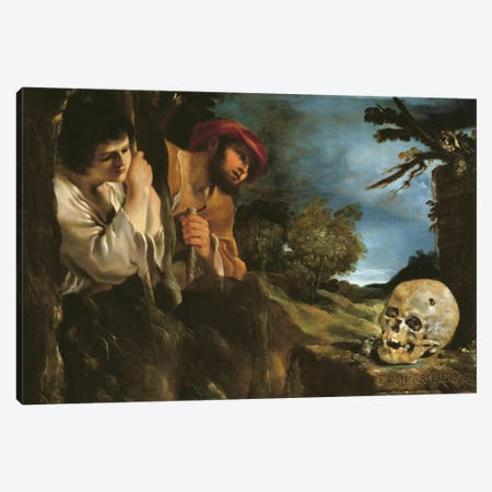 Et in arcadia ego  Canvas Print #BMN3584} by Guercino Canvas Print