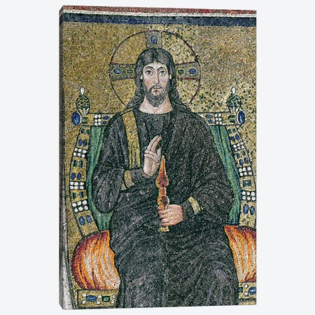 Christ enthroned with the angels  Canvas Print #BMN3586} by Byzantine School Art Print