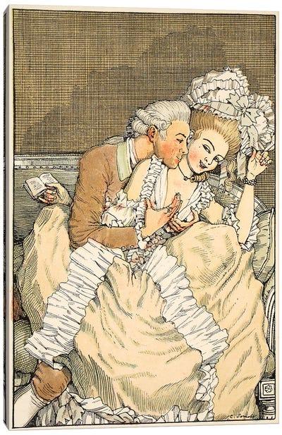 L'Amoureux pressant, 1918  Canvas Art Print