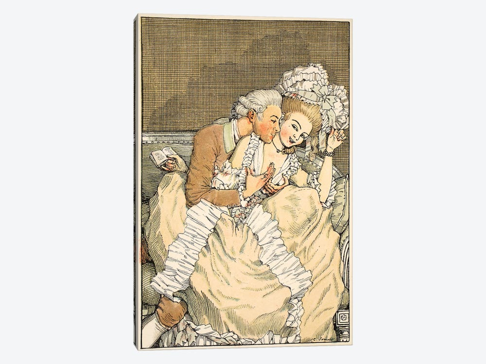 L'Amoureux pressant, 1918  by Konstantin Andreevic Somov 1-piece Art Print