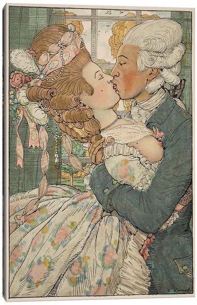 Le Baiser, 1918  Canvas Art Print