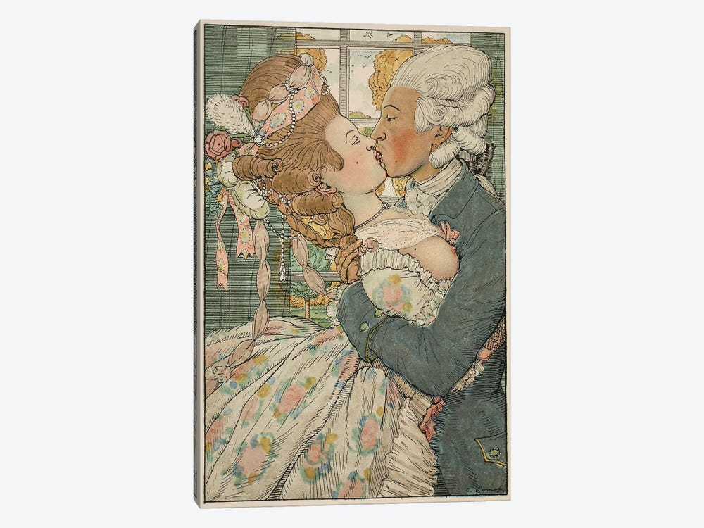 Le Baiser, 1918  by Konstantin Andreevic Somov 1-piece Canvas Wall Art