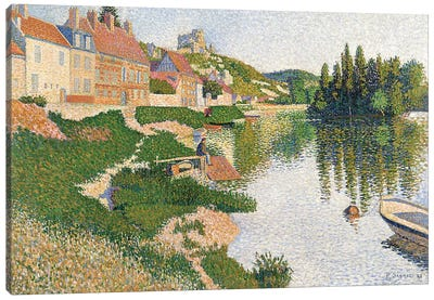 The River Bank, Petit-Andely, 1886  Canvas Art Print