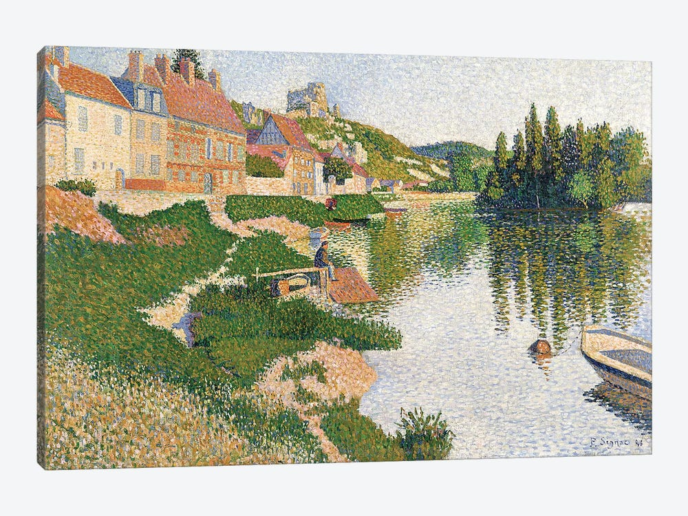 The River Bank, Petit-Andely, 1886  by Paul Signac 1-piece Canvas Artwork