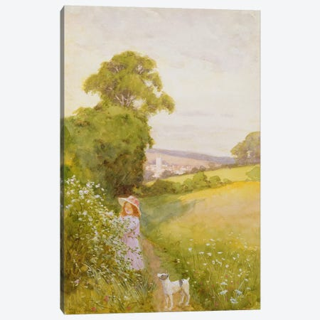 Picking Flowers  Canvas Print #BMN3590} by Thomas Frederick Mason Sheard Canvas Print