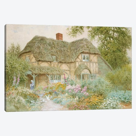 A Surrey Cottage  Canvas Print #BMN3591} by Arthur Claude Strachan Canvas Print