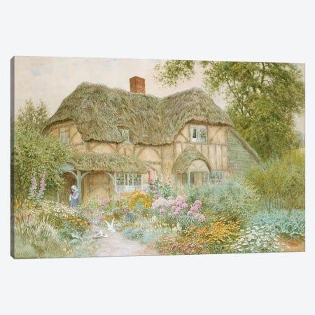 A Surrey Cottage  Canvas Print #BMN3591} by Arthur Claude Strachan Canvas Print