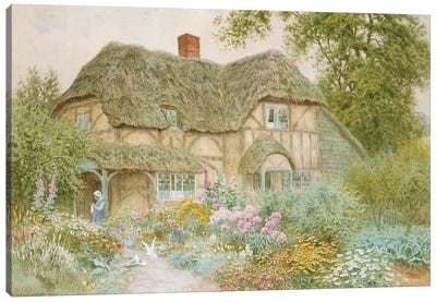 A Surrey Cottage  Canvas Art Print