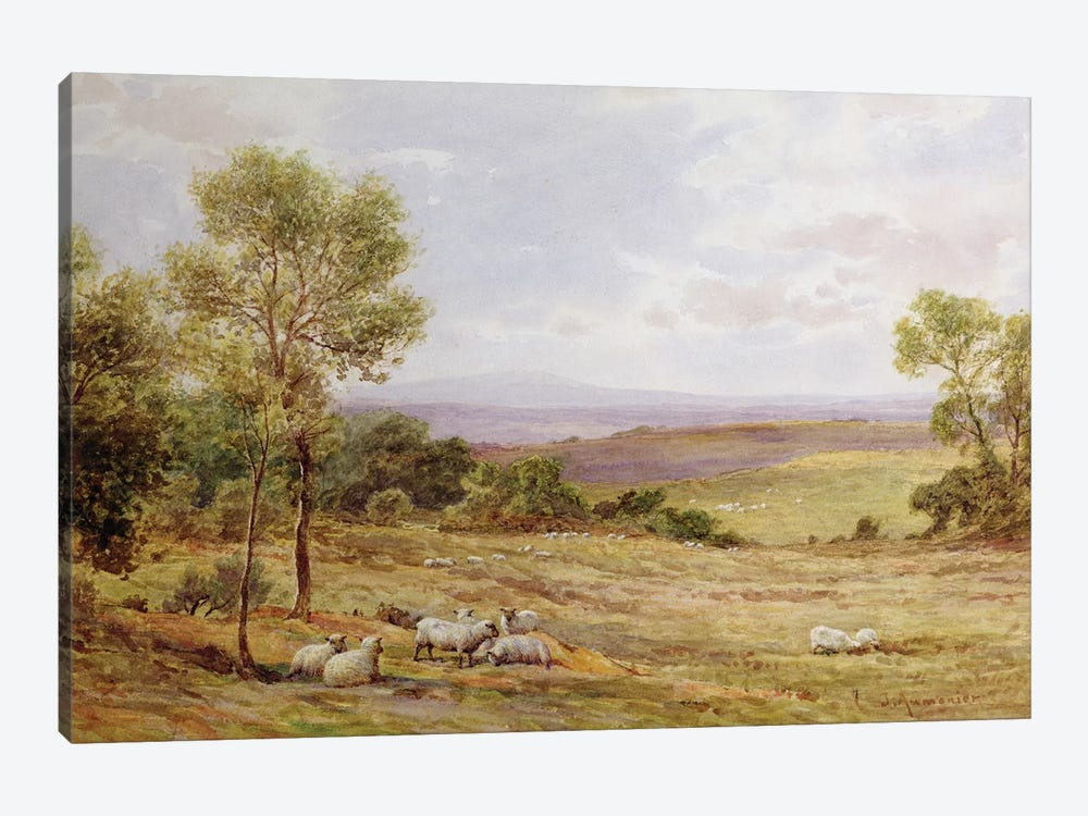 Cumberland hills from Wardrew House, Gilston  by James Aumonier 1-piece Art Print