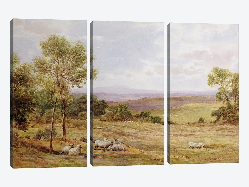 Cumberland hills from Wardrew House, Gilston  by James Aumonier 3-piece Art Print