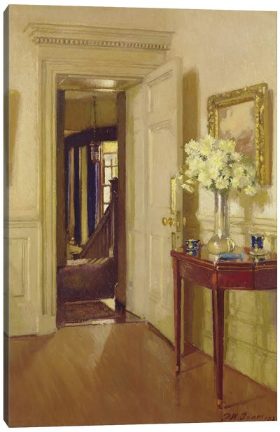 Interior, Gribdae, 1921  Canvas Art Print
