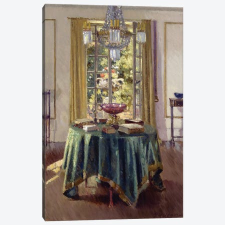 The Green Table Cloth, 1926  Canvas Print #BMN3595} by Patrick William Adam Canvas Art