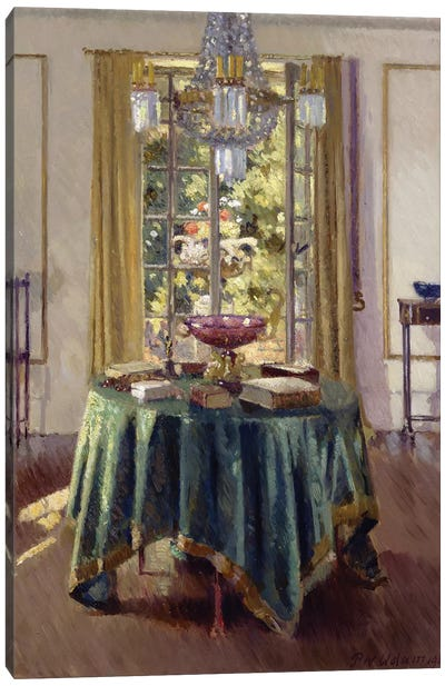 The Green Table Cloth, 1926  Canvas Art Print