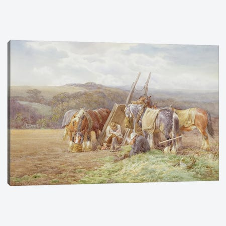 Resting in the Field  Canvas Print #BMN3596} by Charles James Adams Canvas Artwork