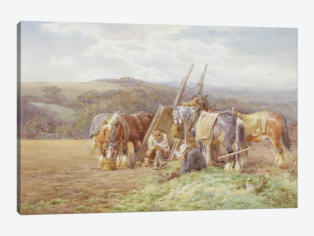 Resting in the Field by Charles James Adams 1-piece Canvas Art
