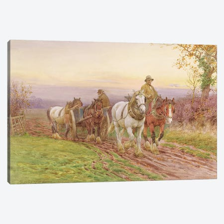 When the Day's Work is Done  Canvas Print #BMN3597} by Charles James Adams Canvas Artwork