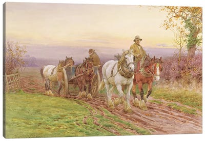 When the Day's Work is Done  Canvas Art Print