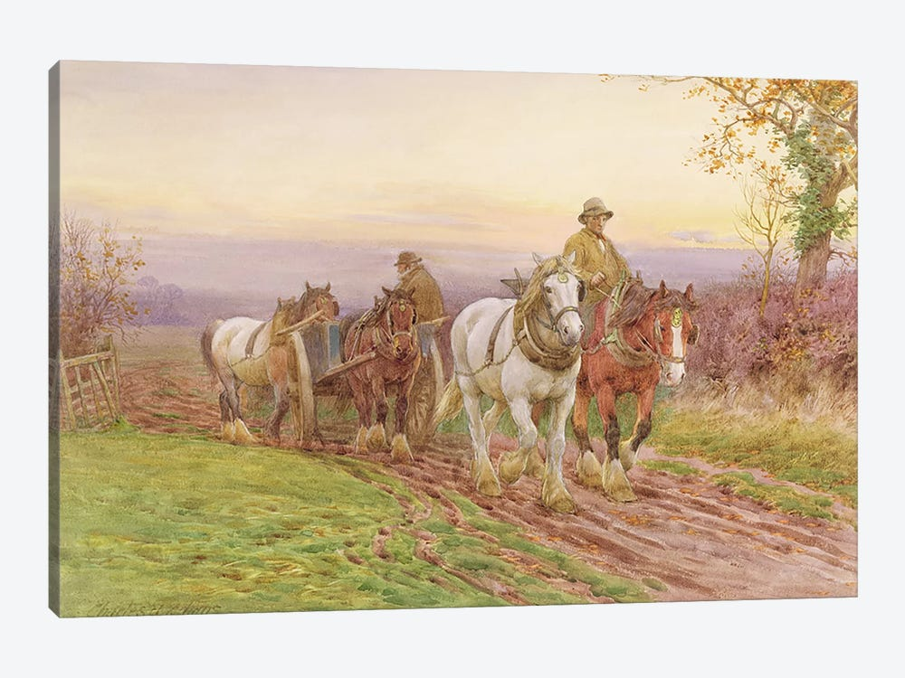 When the Day's Work is Done  by Charles James Adams 1-piece Canvas Print