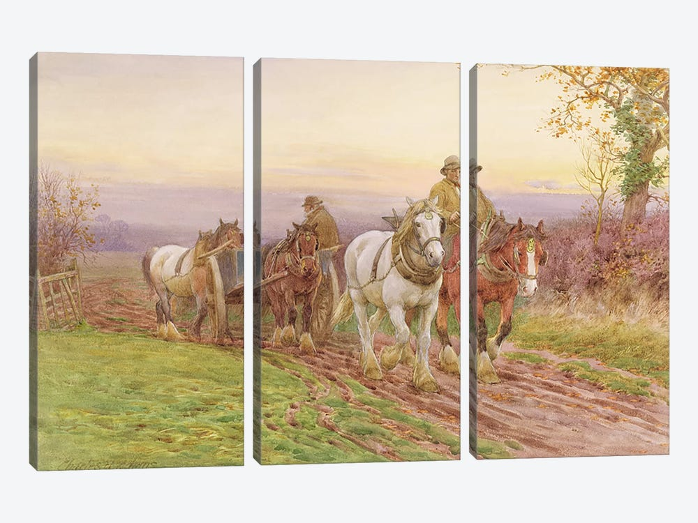 When the Day's Work is Done by Charles James Adams 3-piece Art Print
