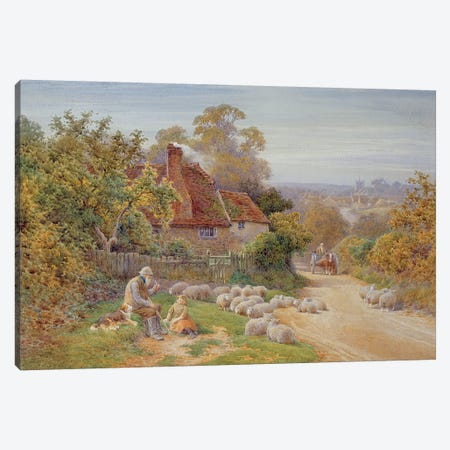A Rest by the Way  Canvas Print #BMN3598} by Charles James Adams Canvas Print