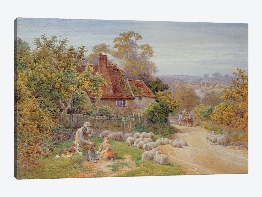 A Rest by the Way  by Charles James Adams 1-piece Canvas Wall Art