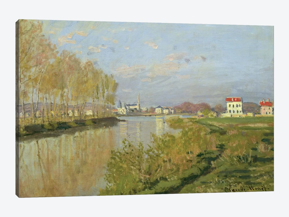 The Seine at Argenteuil, 1873  by Claude Monet 1-piece Canvas Print