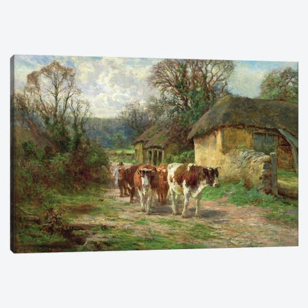By the Barn  Canvas Print #BMN3601} by Charles James Adams Art Print