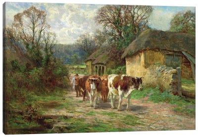 By the Barn  Canvas Art Print