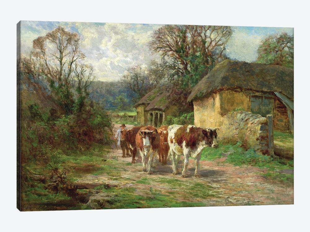 By the Barn  by Charles James Adams 1-piece Canvas Artwork