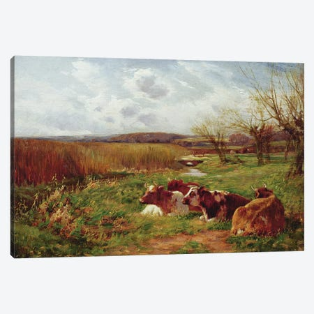 In the Meadow  Canvas Print #BMN3602} by Charles James Adams Art Print