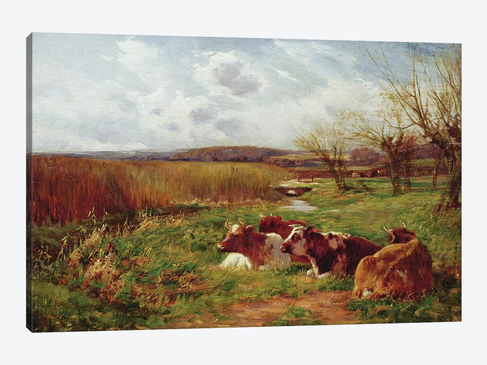 In the Meadow  by Charles James Adams 1-piece Canvas Print
