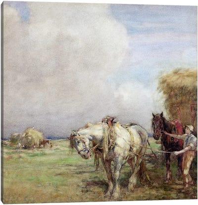 The Hay Wagon  Canvas Print #BMN3603