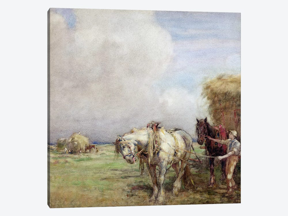 The Hay Wagon  1-piece Canvas Art