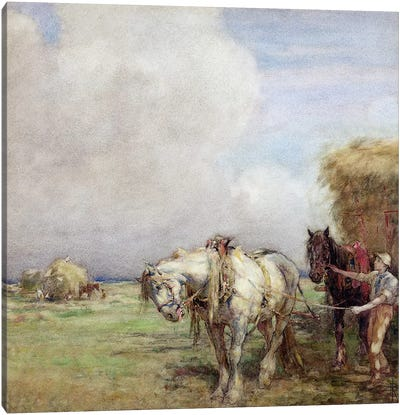 The Hay Wagon  Canvas Art Print