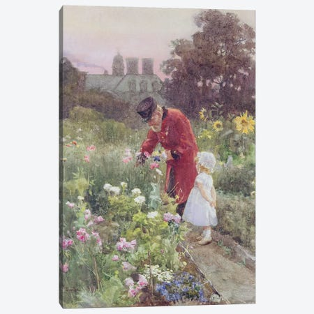 Grandad's Garden  Canvas Print #BMN3604} by Rose Maynard Barton Canvas Artwork
