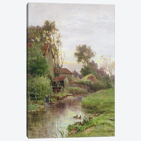 The Mill Stream  Canvas Print #BMN3608} by James George Bingley Art Print