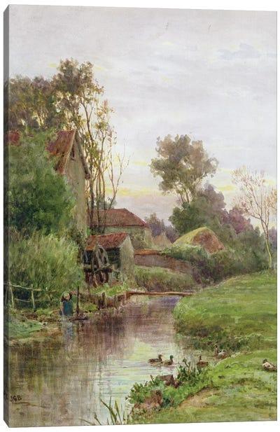 The Mill Stream  Canvas Art Print