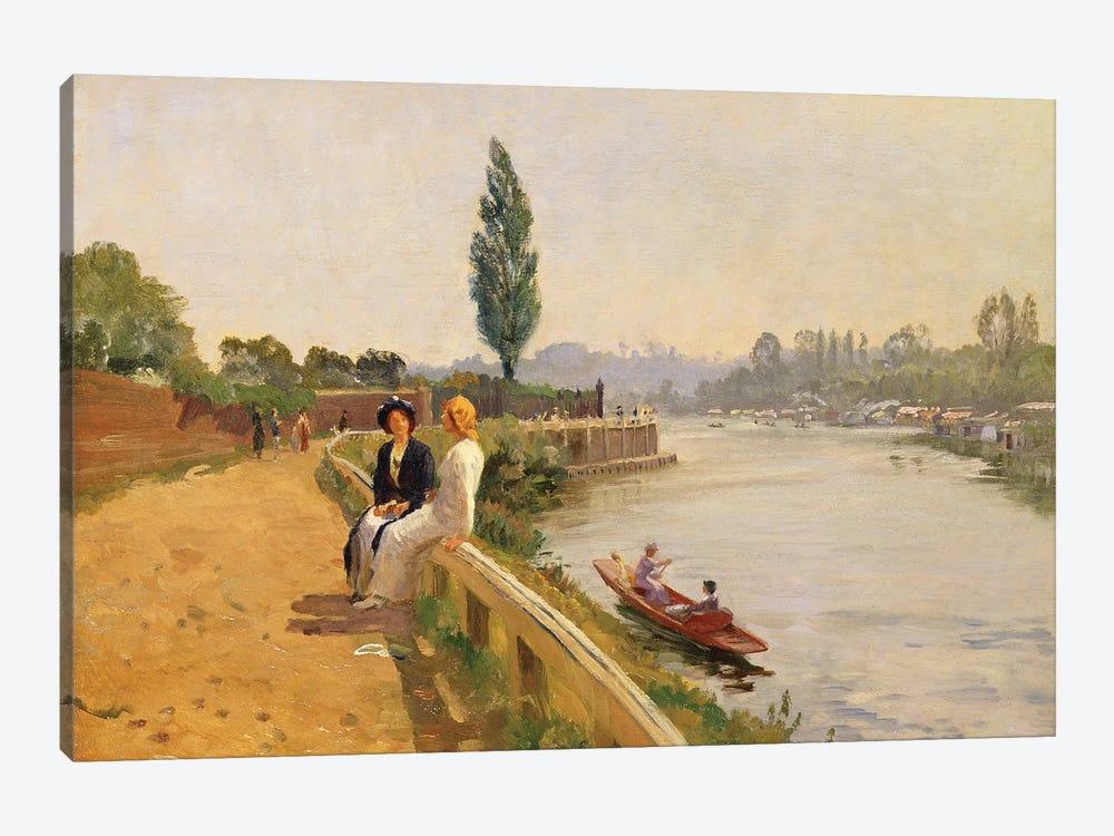 The Thames at Hampton Court  by John Arthur Black 1-piece Canvas Art