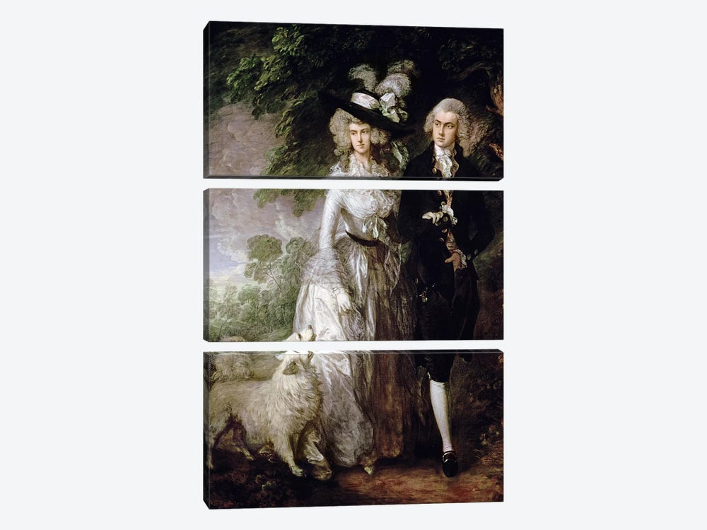Mr and Mrs William Hallett by Thomas Gainsborough 3-piece Art Print