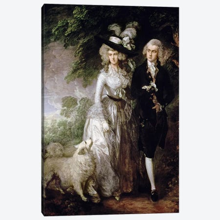 Mr and Mrs William Hallett  Canvas Print #BMN360} by Thomas Gainsborough Art Print