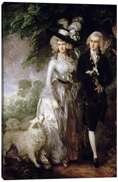 Mr and Mrs William Hallett  Canvas Art Print