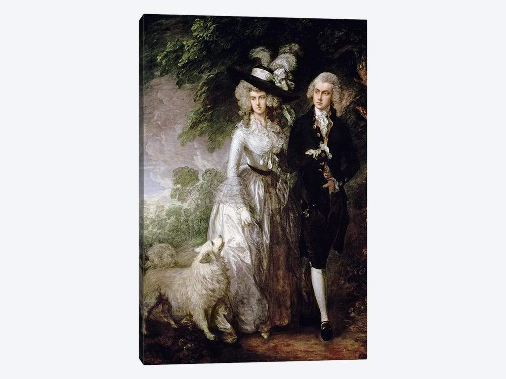 Mr and Mrs William Hallett  by Thomas Gainsborough 1-piece Art Print
