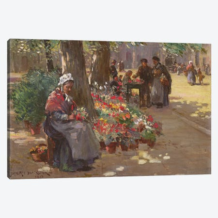 The Flower Seller, 1912  Canvas Print #BMN3610} by William Kay Blacklock Canvas Artwork