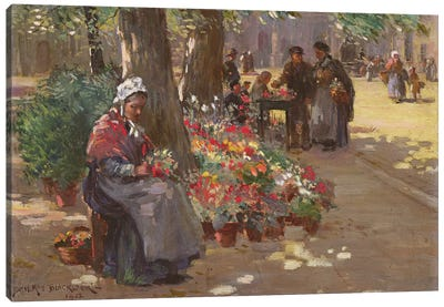The Flower Seller, 1912  Canvas Art Print