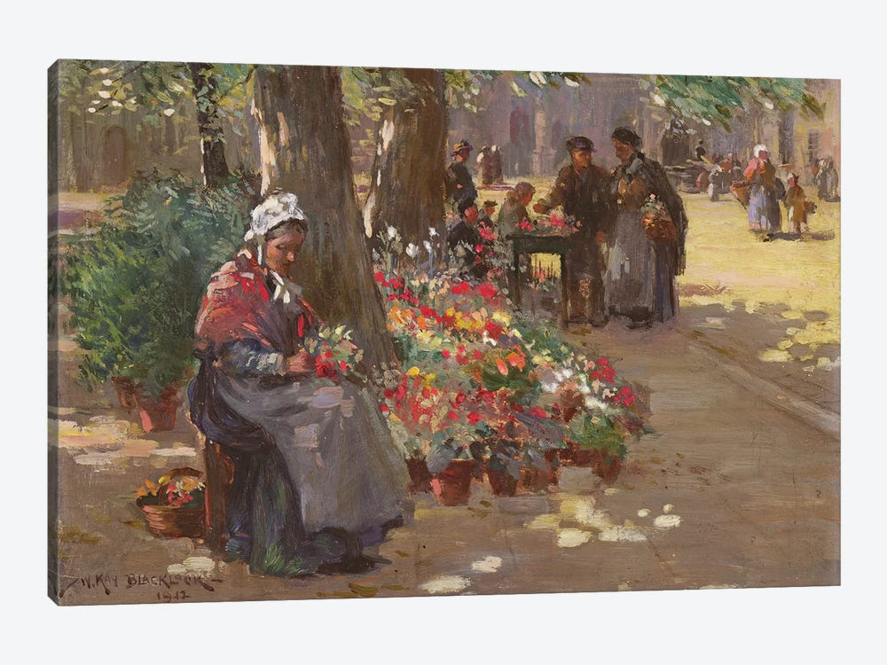 The Flower Seller, 1912  by William Kay Blacklock 1-piece Canvas Art