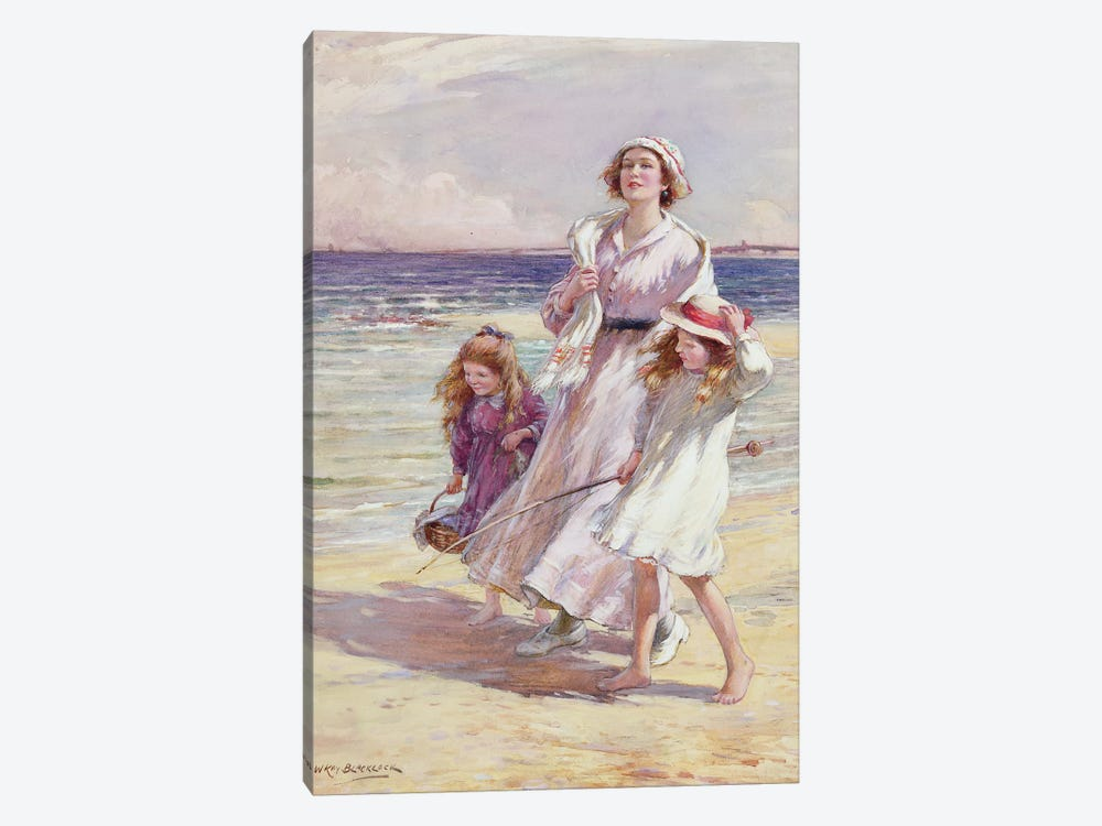 A Breezy Day at the Seaside  by William Kay Blacklock 1-piece Canvas Art Print