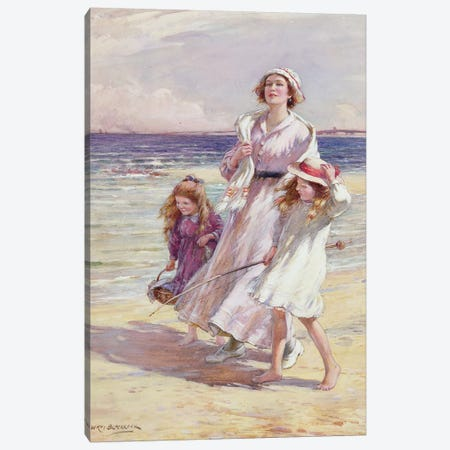 A Breezy Day at the Seaside  Canvas Print #BMN3611} by William Kay Blacklock Canvas Artwork
