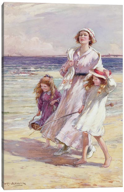 A Breezy Day at the Seaside  Canvas Art Print