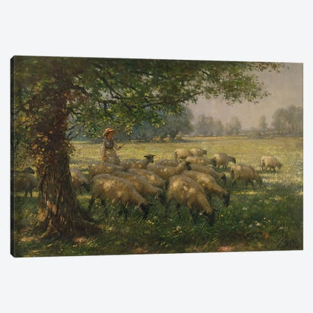 The Shepherdess  Canvas Print #BMN3613} by William Kay Blacklock Canvas Art